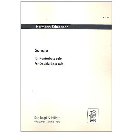 Schroeder, H.: Kontrabasssonate (1975)