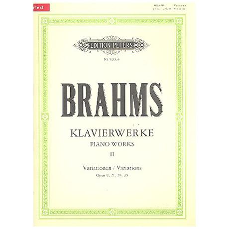 Brahms, J.: Variationen Op. 9, 21/1 und 2, 24, 35