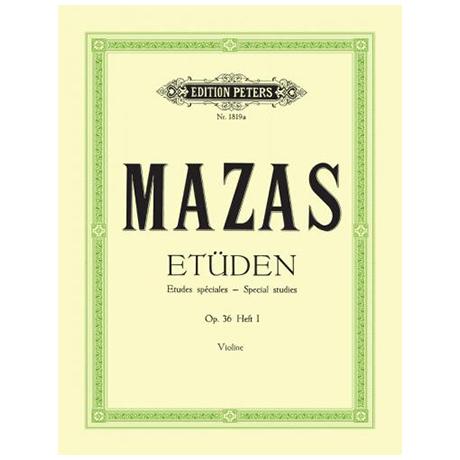 Mazas: Etüden Op. 36 Band 1: 30 Etudes speciales