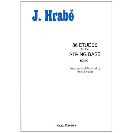 Hrabé, Josef: 86 Etudes for String Bass Book 1