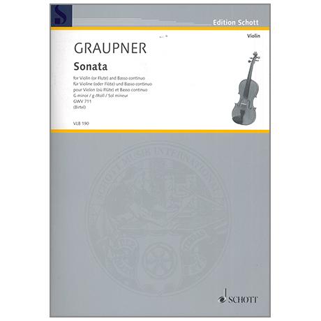 Graupner, C.: Violinsonate GWV 711 g-Moll