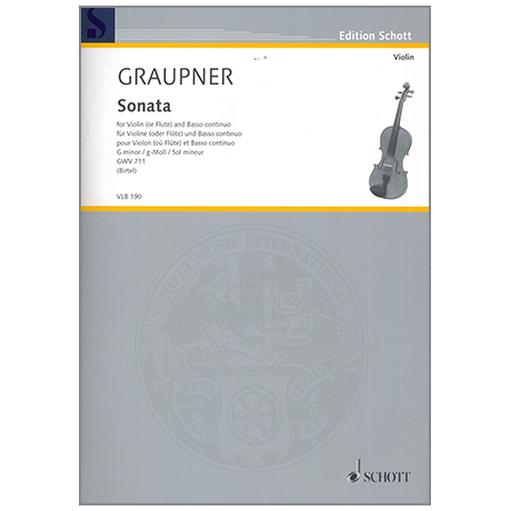 Graupner, C.: Sonate g-Moll GWV 711