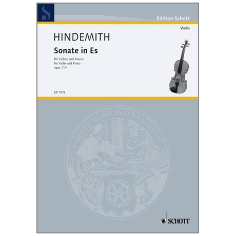 Hindemith, P.: Sonate in Es Op.11/1