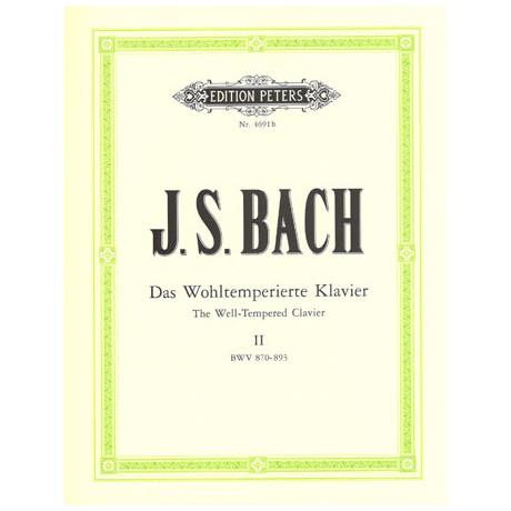 Bach, J.S.: Das Wohltemperierte Klavier Band II BWV 870-893
