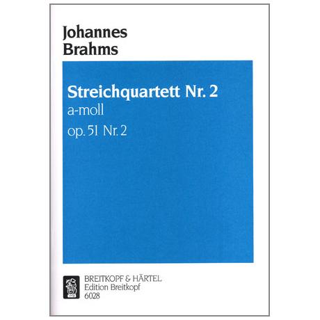 Brahms, J.: Streichquartett a-moll, op. 51/2