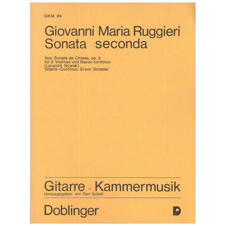 Ruggieri, G.M.: Sonata seconda h-Moll Op.3
