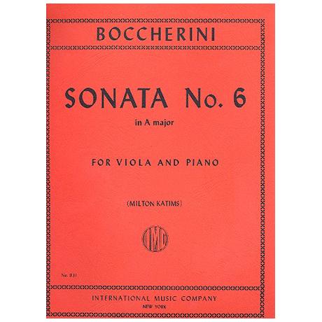 Boccherini, L.: Violasonate Nr. 6 A-Dur