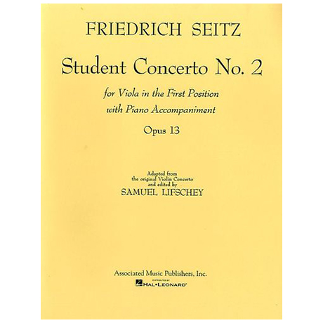 Seitz, F.: Student concerto Nr.2 Op.13