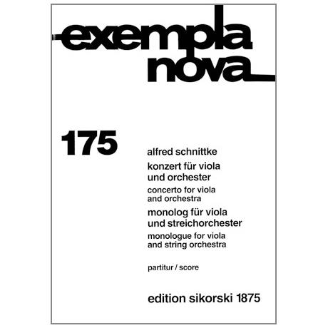 Schnittke, A.: Konzert für Viola und Orchester / Monolog für Viola und Streichorchester