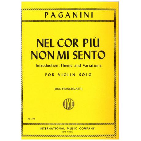 Paganini, N.: Nel cor piu non mi sento