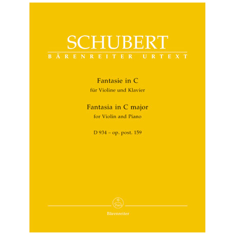 Schubert, F.: Fantasie in C-Dur D 934 - op. post.159
