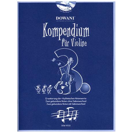 Kompendium für Violine - Band 3 (+CD)
