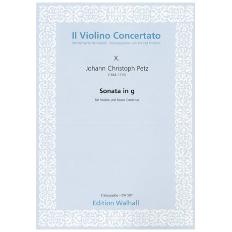 Petz, J.C.: Sonata in G