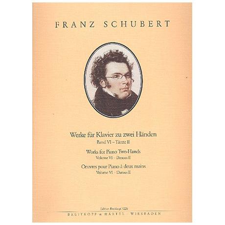 Schubert, F.: Sämtliche Klavierwerke Band VI: Tänze II