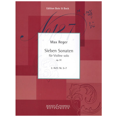 Reger, M.: Sieben Sonaten Op.91 Band 2