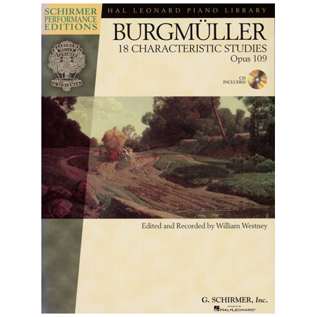 Burgmüller: 18 Characteristic Studies Op.109 (+CD)