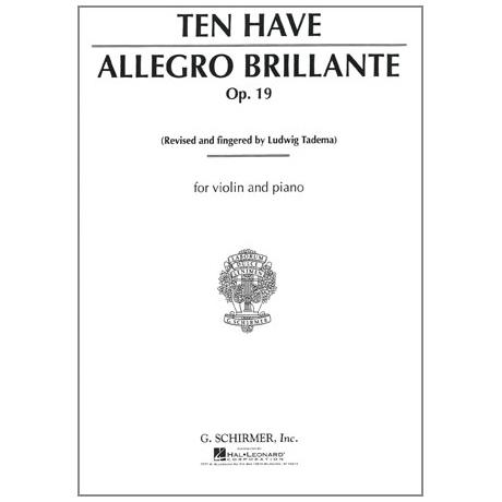 Ten Have, W.: Allegro Brillante Op.19
