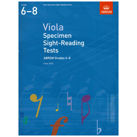 ABRSM: Viola Specimen Sight-Reading Tests - Grades 6-8 (From 2012)