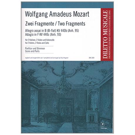 Mozart, W. A.: Zwei Fragmente (KV. 440b und KV. 440c)