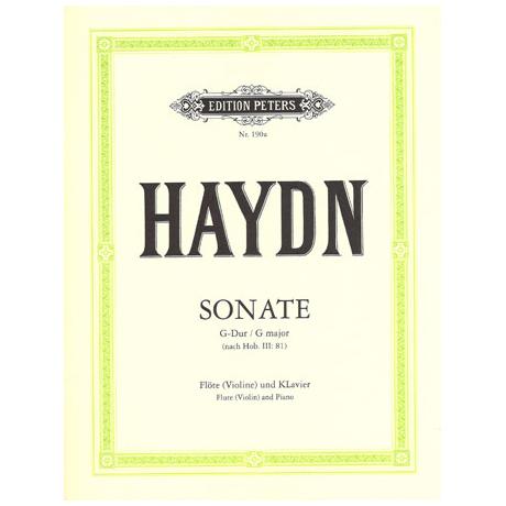 Haydn, J.: Violinsonate G-Dur (nach Hob. III:81)