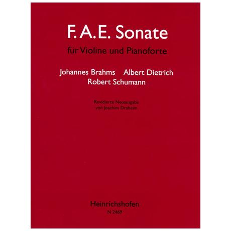 Brahms, J. / Dietrich, A. / Schumann, R.: F. A. E. Sonate