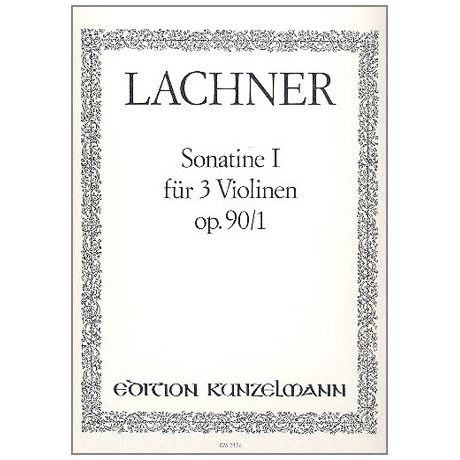 Lachner, F.P.: Sonatine G-Dur Op.90,1