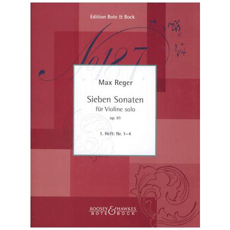 Reger, M.: Sieben Sonaten Op. 91 Band 1