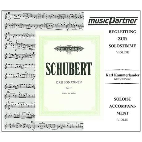 Schubert, F.: Sonatinen D-Dur, a-moll, g-moll op. 137, Compact-Disc CD