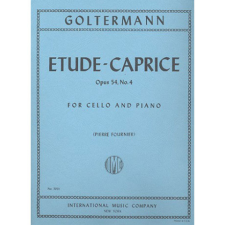 Goltermann, G.: Etude-Caprice op. 54 Nr. 4