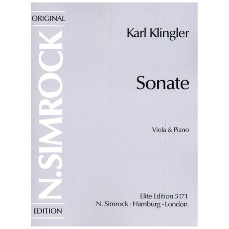 Klingler, K.: Sonate d-Moll