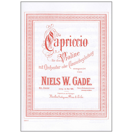 Gade, N. W.: Capriccio
