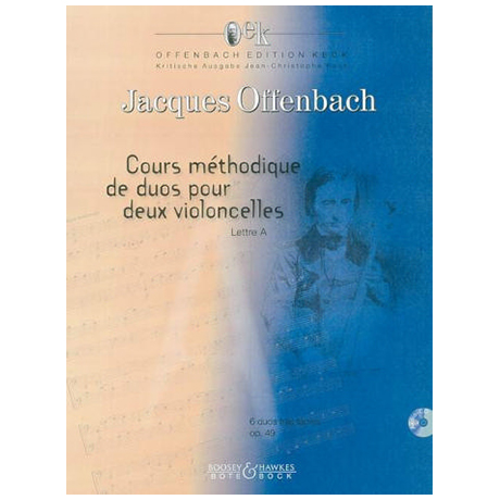 Offenbach, J.: Cours méthodique de duos Op.49 Band 1 (+ CD)