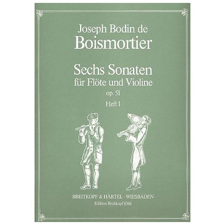 Boismortier, J.B.d.: 6 Sonaten op.51 Band 1 (Nr.1-3)