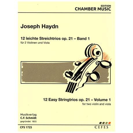 Haydn, J.: 12 leichte Streichtrios Op. 21 – Band 1