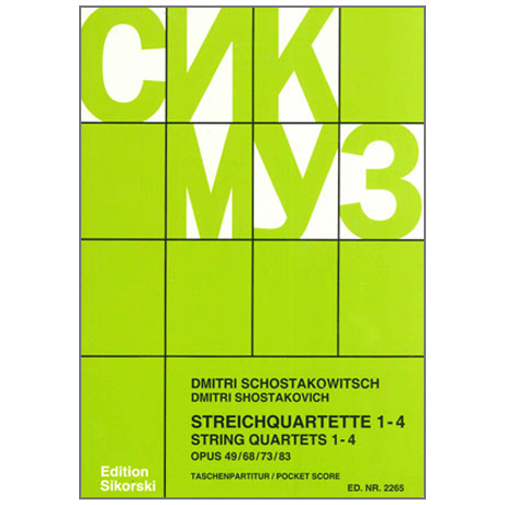 Schostakowitsch, D.: Streichquartette Nr. 1-4