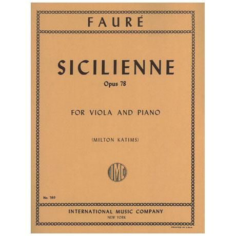 Faure, G.: Sicilienne op. 78