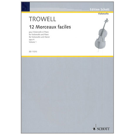 Trowell, A.: 12 Morceaux faciles Op. 4 Band 1 - Nr. 1-3