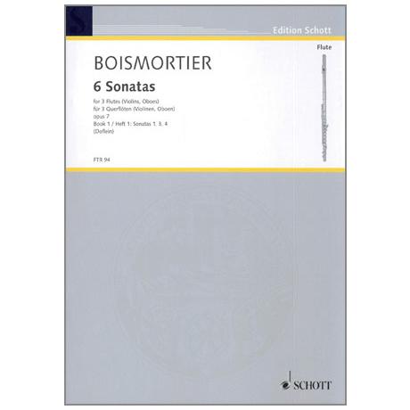 Boismortier, J.B.d.: 6 Sonaten op.7 Band 1 (1,3,4)