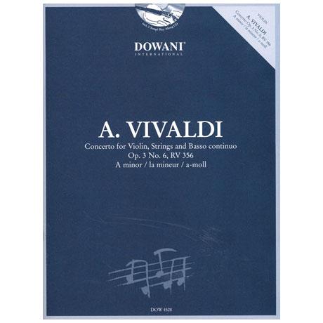 Vivaldi, A.: Konzert op. 3 Nr. 6, RV 356 in a-Moll (+CD)