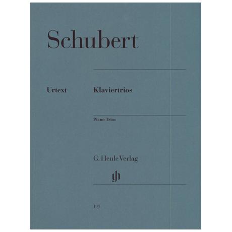 Schubert, F.: Klaviertrios