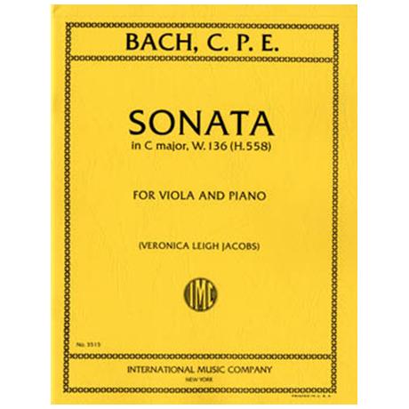 Bach, C.Ph.E.: Sonate in C-Dur W.136