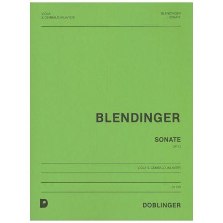 Blendinger, H.: Sonate Op.13