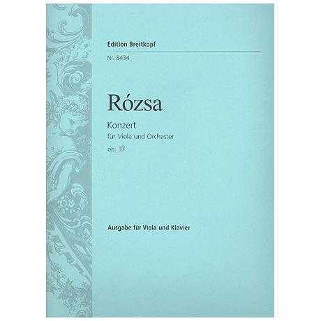 Rozsa, M.: Konzert op. 37 für Viola und Orchester (1981/82)