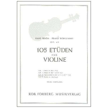 Benda, H./Wohlfahrt F.: 105 Etüden Op. 45 Band 3