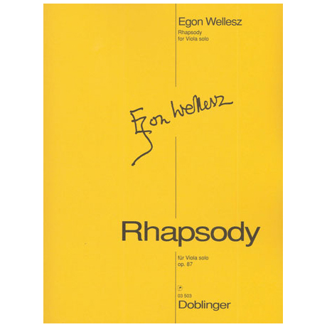 Wellesz, E.: Rhapsody, Op.87