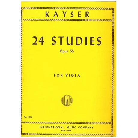 Kayser, H.E.: 24 Etüden op. 55