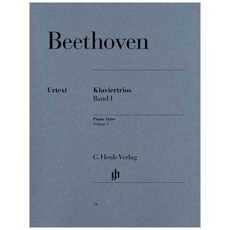 Beethoven, L.v.: Klaviertrios Band 1: Op. 1/1-3, Op. 11 Urtext