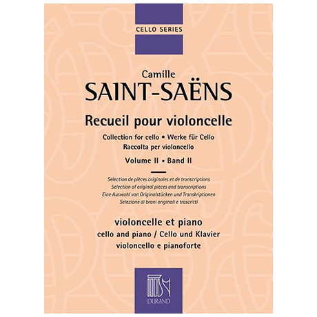 Saint-Saëns, C.: Werke für Cello Band 2
