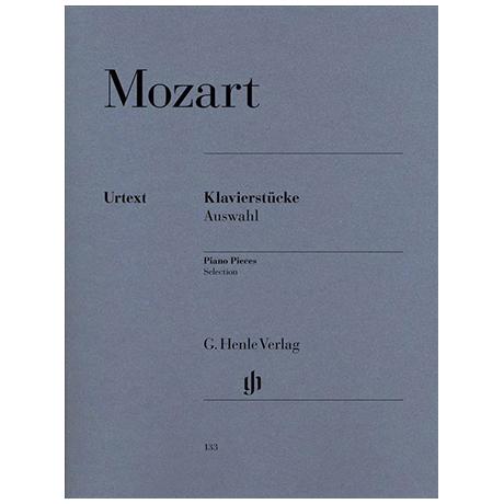 Mozart, W. A.: Klavierstücke, Auswahl