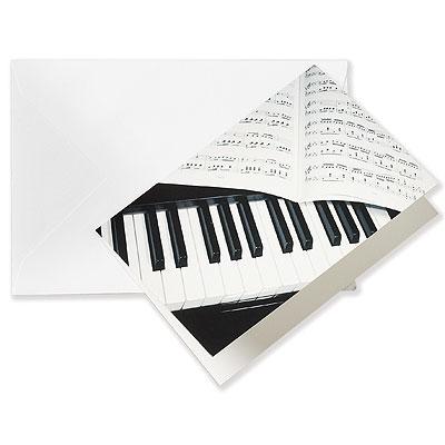 Grusskarte PIANO